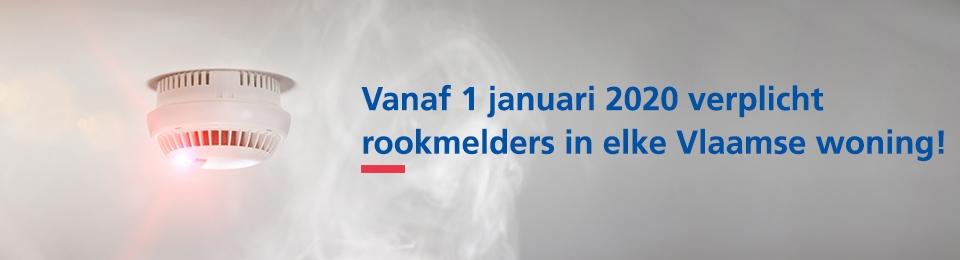 Vanaf 1 januari 2020 brand- en rookmelders verplicht in alle Vlaamse woningen