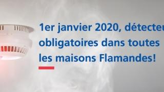 À partir du 1 janvier 2020, detecteurs de fumee et d'incendie obligatoires dans toutes les maisons flamandes